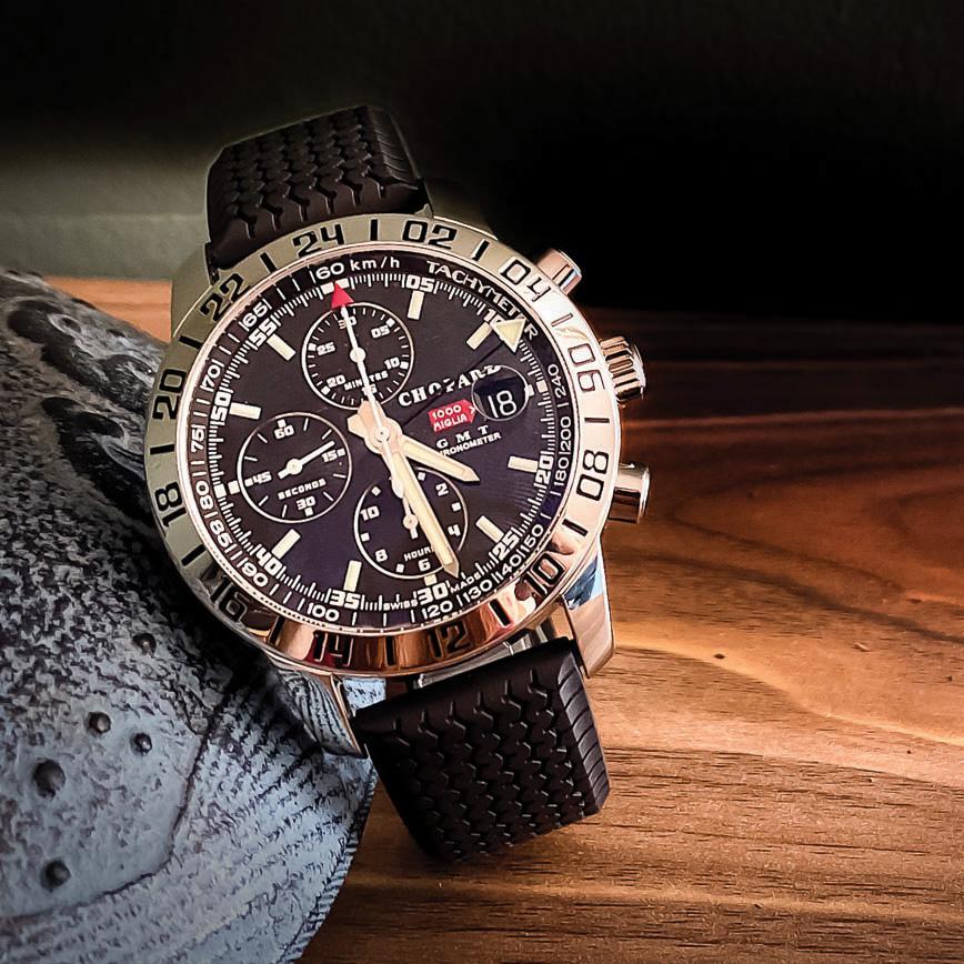 Montre homme de luxe Chopard Mille Migle GMT Chronometer d'occasion paris bastia