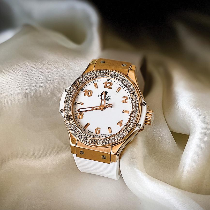 Montre femme de luxe hublot big bang diamants cadran blanc d'occasion bastia paris