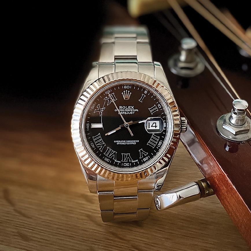 Acheter montre homme Rolex datejust 2 cadran black roman, paiement en plusieurs fois, bastia, paris