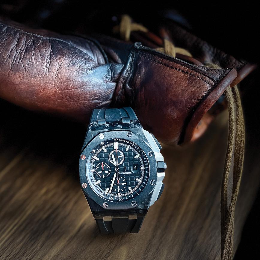 Montre homme de luxe Audemars Piguet Royal Oak Offshore Chronographe carbone bastia paris