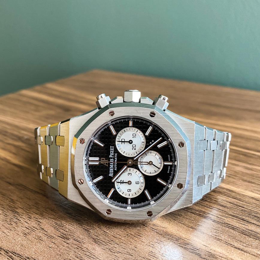 Montre homme de luxe Audemars Piguet royal oak chronograph d'occasion bastia paris