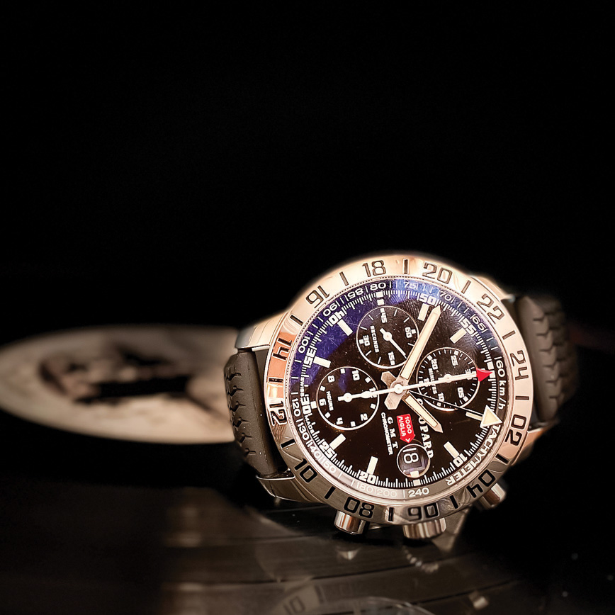 Chopard Mille Migle GMT Chrono corse paris