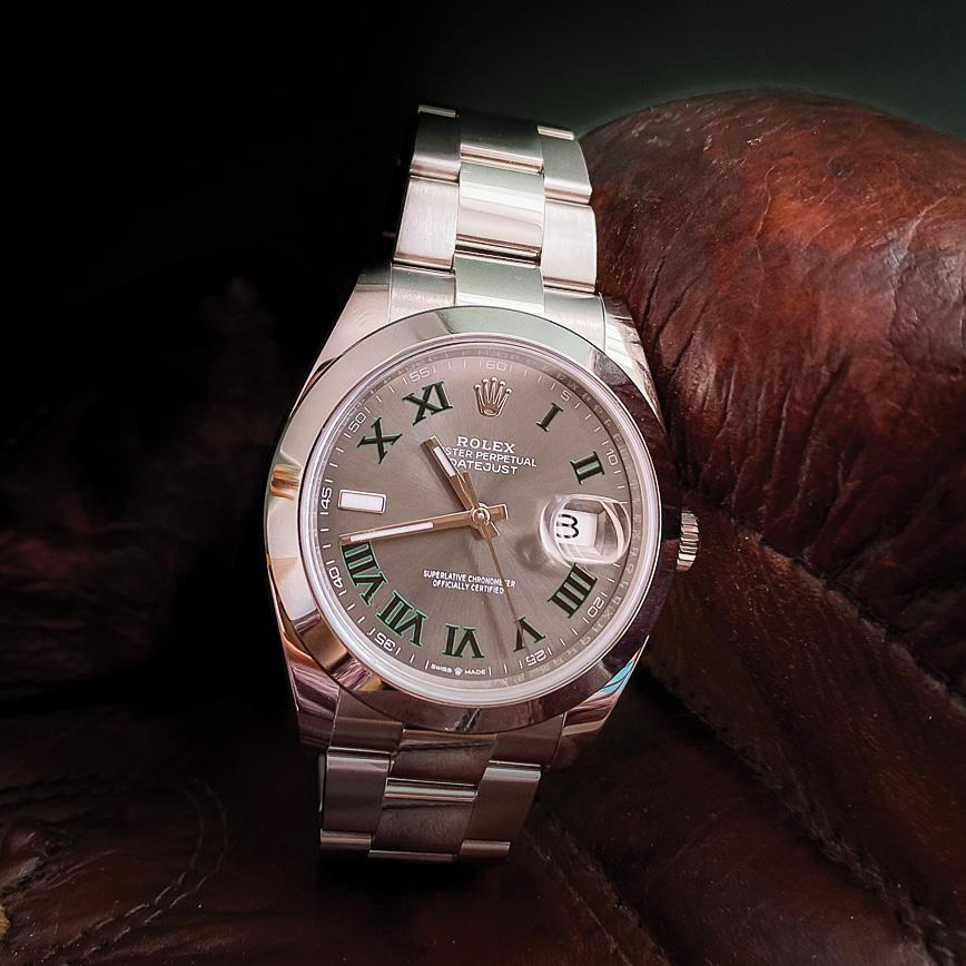 Montre homme de luxe Rolex Datejust 2 Wimbledon bracelet Oyster d'occasion bastia paris