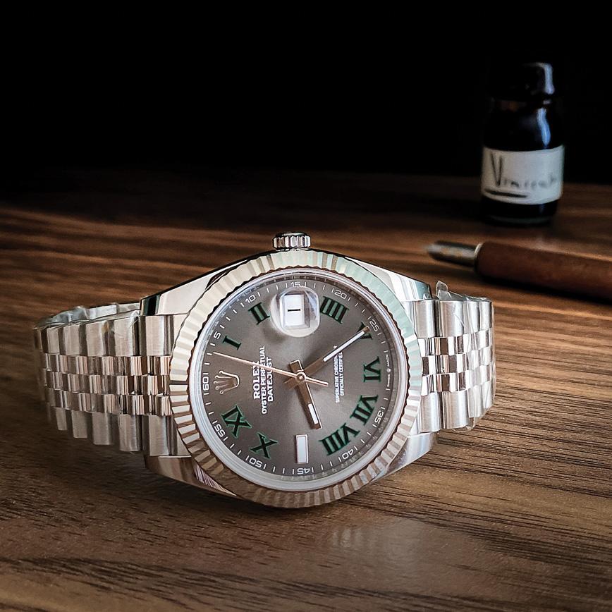 Montre homme de luxe Rolex Datejust 2 Wimbledon bracelet jubilé d'occasion bastia paris