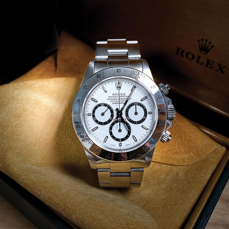 Montre homme de luxe Rolex Daytona Zenith cadran blanc d'occasion bastia paris