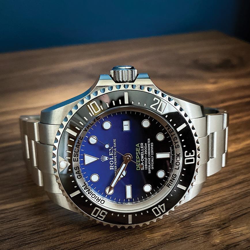 Montre homme de luxe Rolex Deepsea blue d'occasion bastia paris