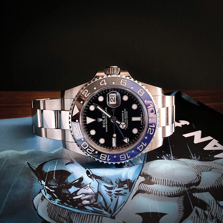 Montre homme de luxe Rolex GMT Master 2 Batman Oyster d'occasion bastia paris