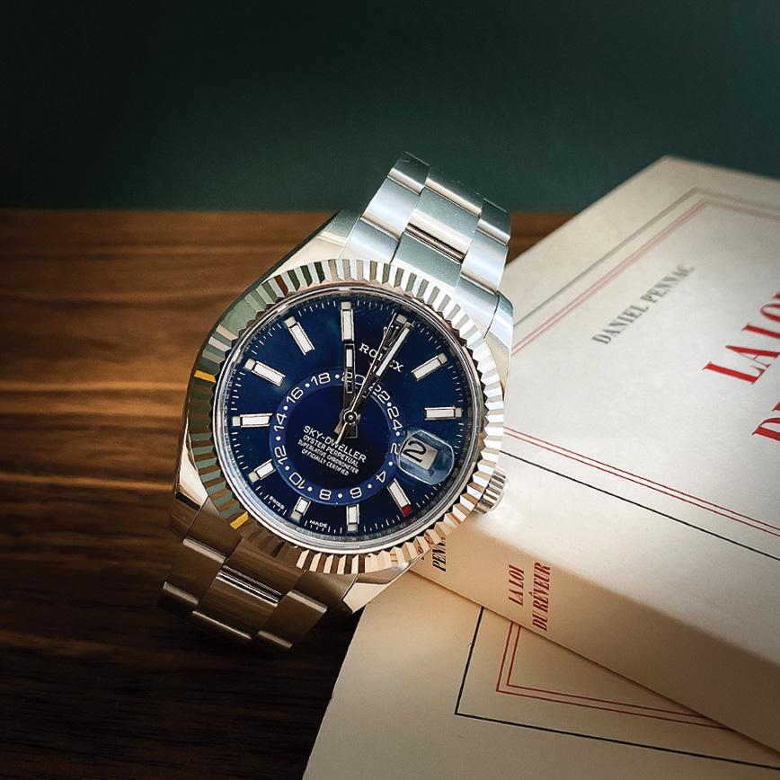 Montre homme de luxe Rolex Skydweller d'occasion bastia paris