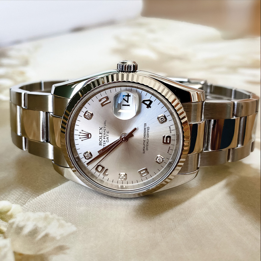Rolex Lady Datejust oyster diamants, bastia, paris