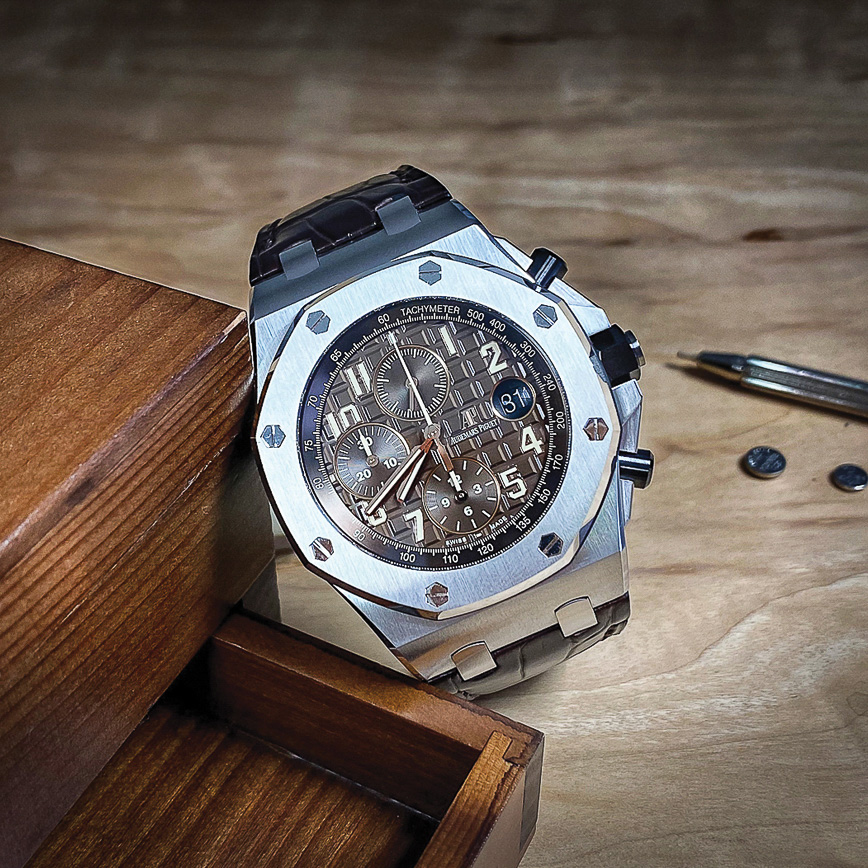 Montre homme de luxe Audemars Piguet Royal Oak Offshore Chronographe 42mm chocolat, Bastia, Paris