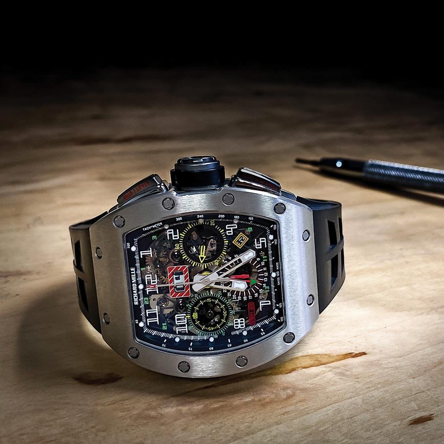 Montre homme de luxe Richard Mille RM11 02 GMT titane