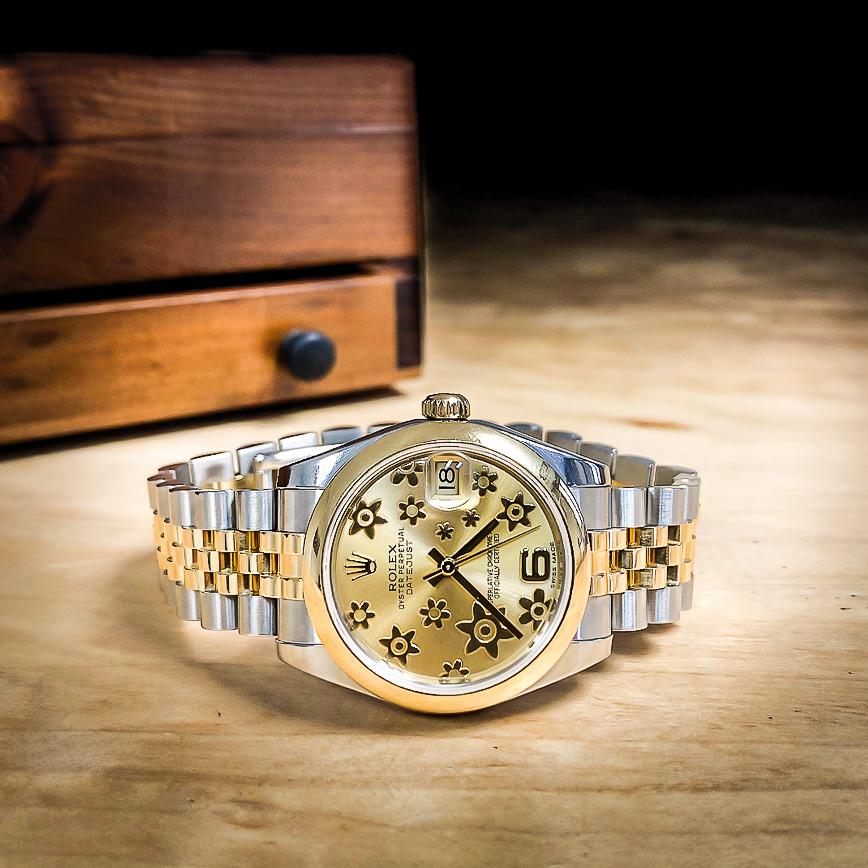 Rolex Datejust 31mm cadran doré motifs floraux - Corse, Paris