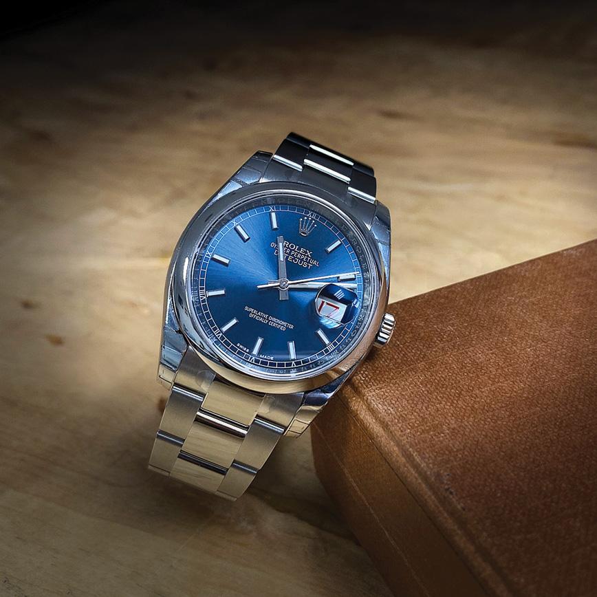 Montre homme Rolex Datejust 36mm acier, cadran bleu - Corse, Paris