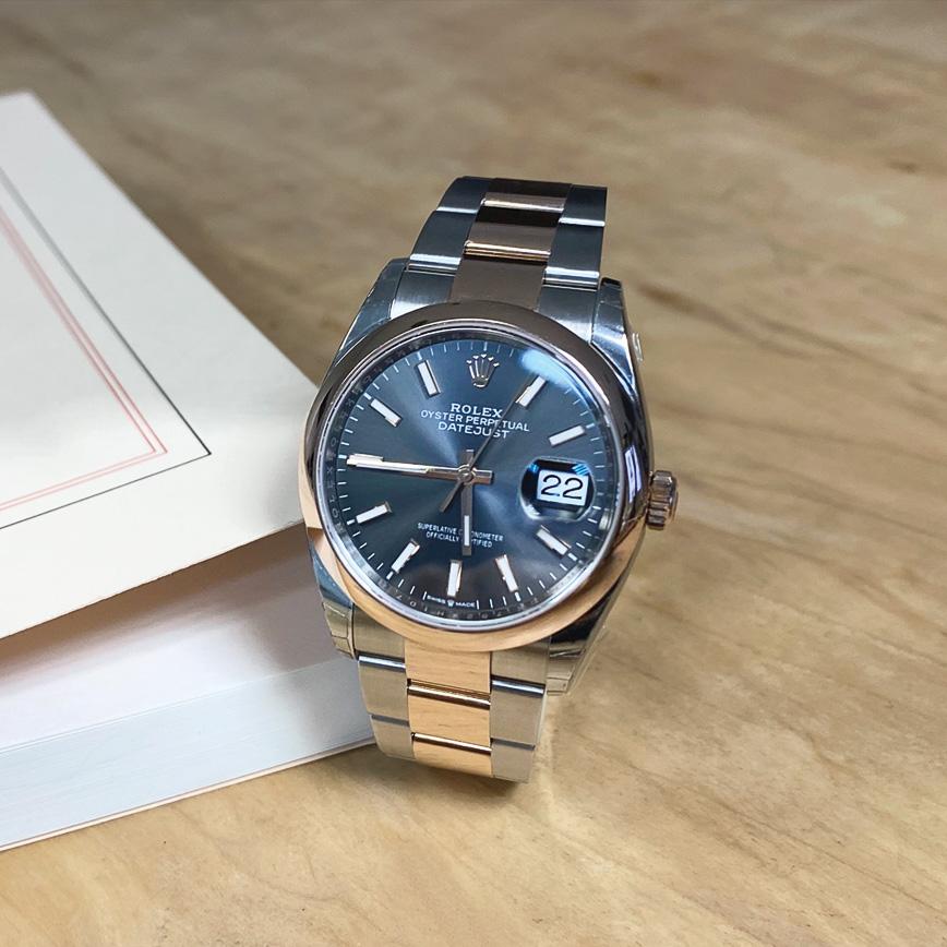 Montre homme de luxe Rolex Datejust 36 or rose et acier, cadran gris - Corse, Paris