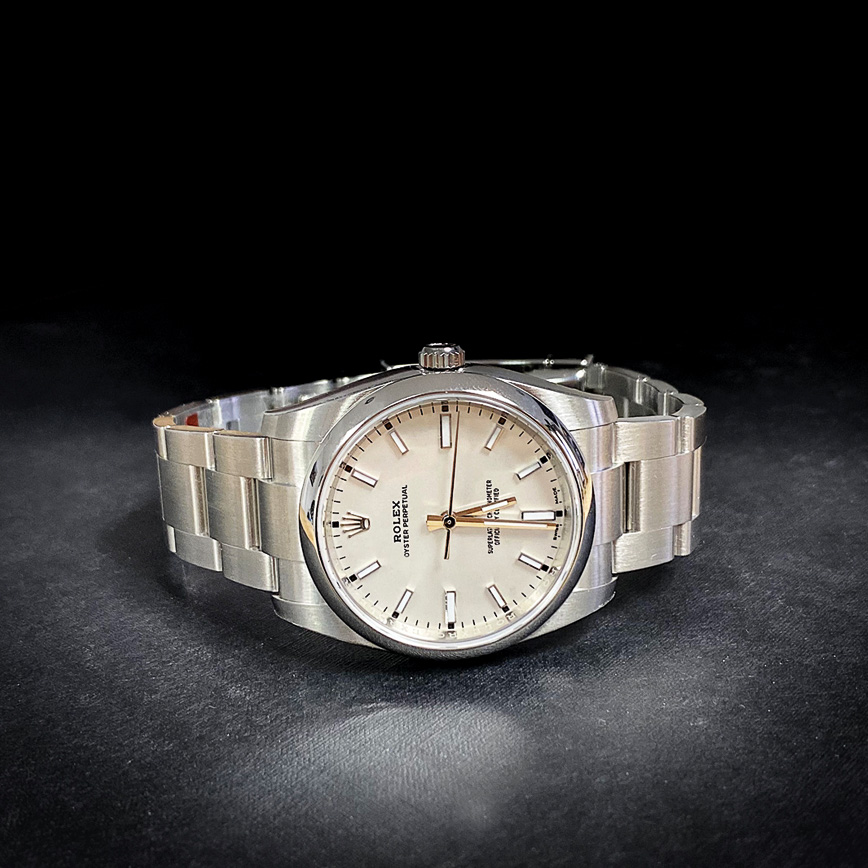 Montre Rolex Oyster 34mm cadran blanc - Bastia, Paris