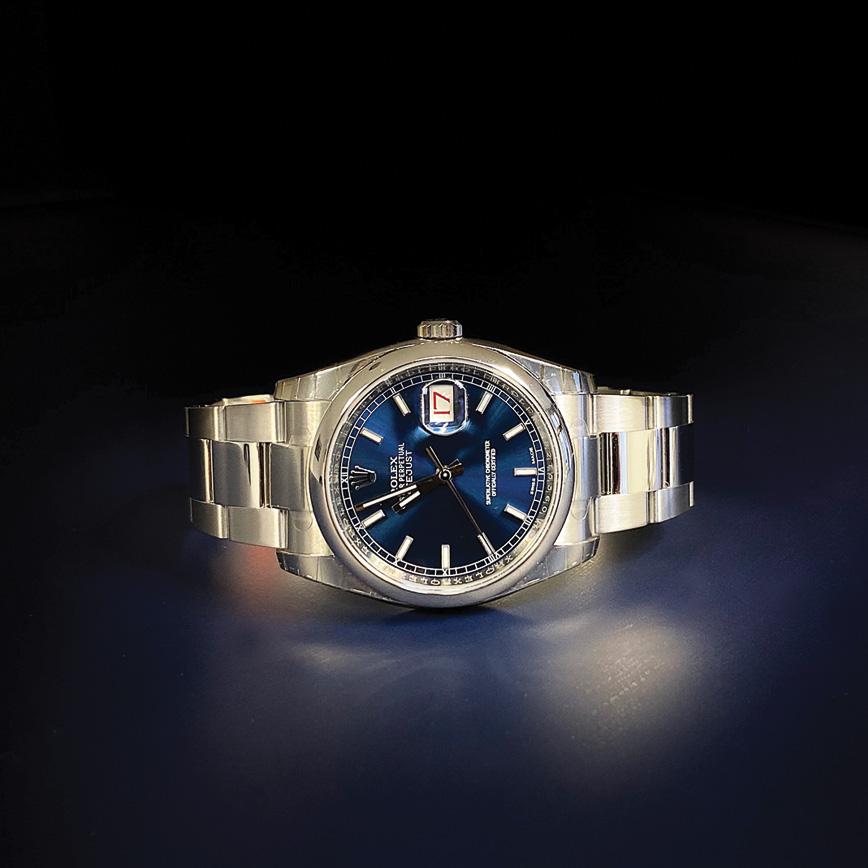 Montre Rolex Datejust 36mm acier, cadran bleu - Bastia, Paris