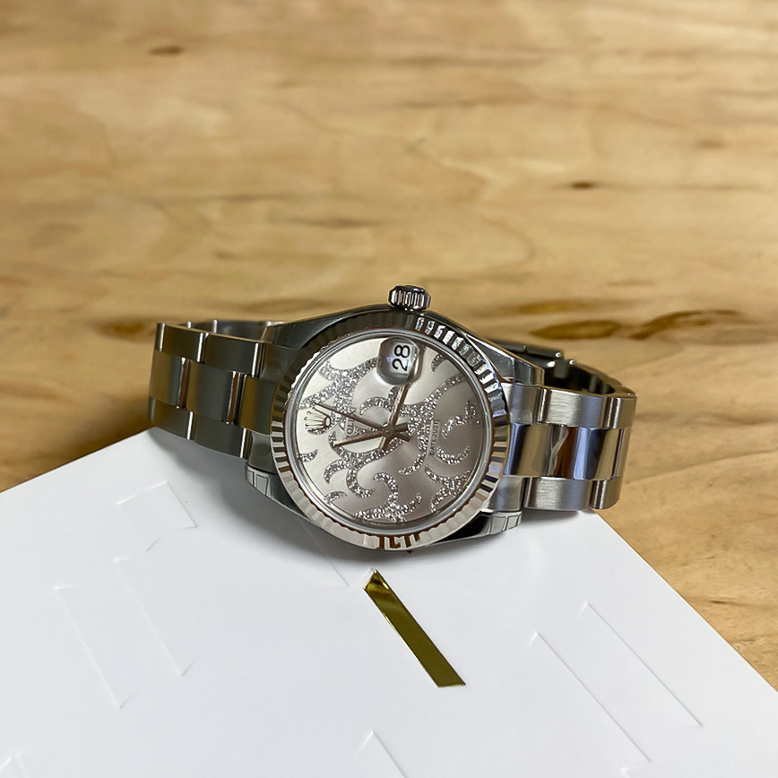 Montre femme de luxe Rolex Datejust 31mm cadran arabesque serti diamants - Corse, Paris