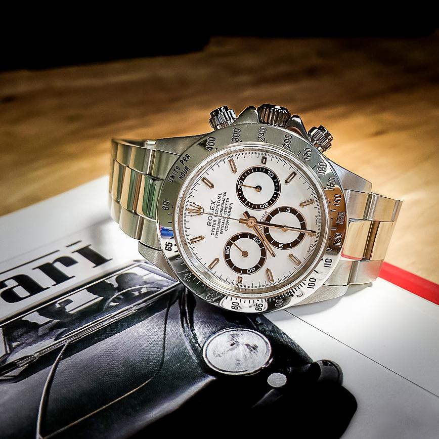 Montre homme de luxe Rolex Daytona Zenith serie A cadran blanc - Corse, Paris