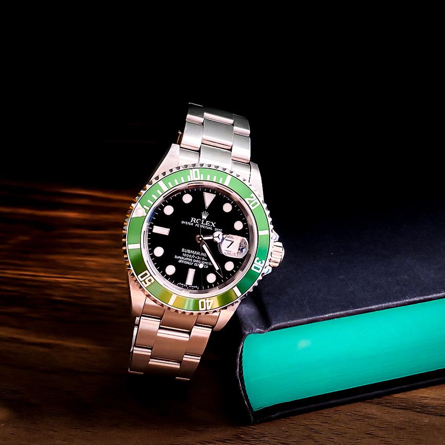 Montre homme de luxe Rolex Submariner 50th Anniversary Kermit - Corse, Paris