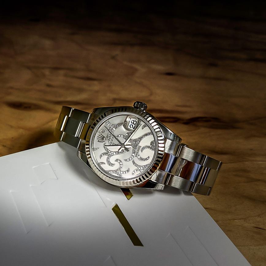 Rolex Datejust 31mm cadran arabesque serti diamants - Corse, Paris