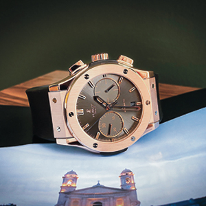 Hublot Classic Fusion Chronograph or rose
