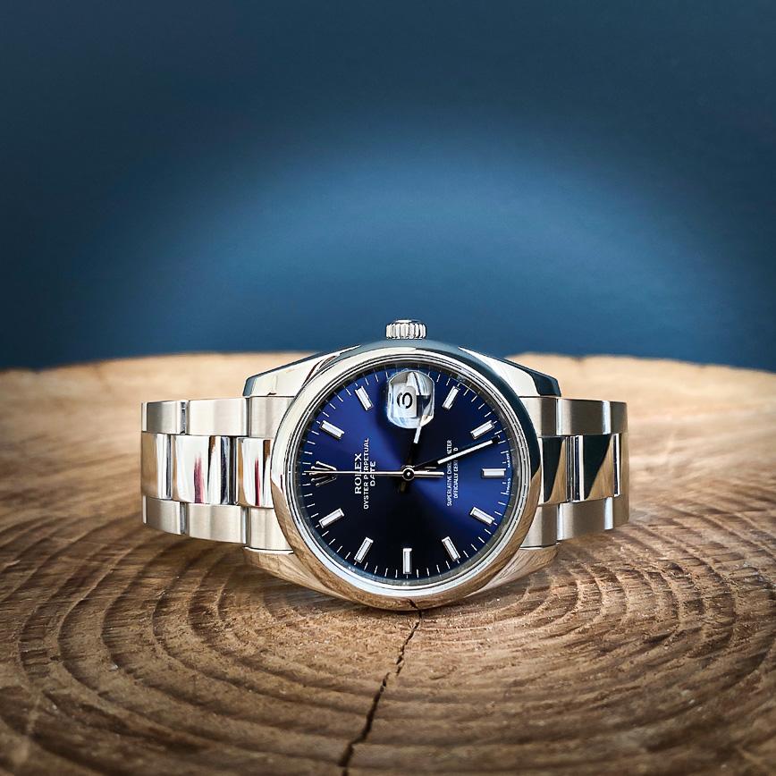 Montre Rolex Datejust 36 cadran bleu - Bastia, Paris