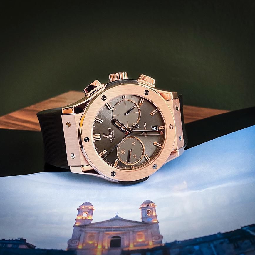 Montre homme de luxe Hublot Classic Fusion Chronograph Or Rose - Corse, Paris