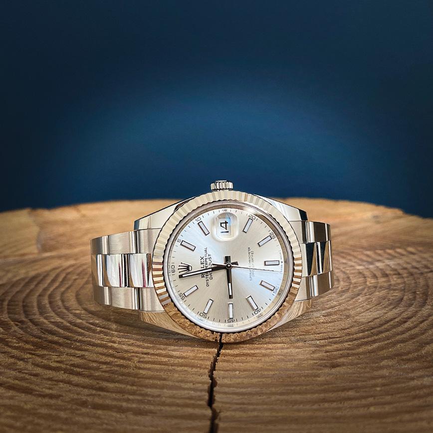 Montre homme de luxe Rolex Datejust 2 cadran gris et lunette cannelée or blanc - Corse, Paris