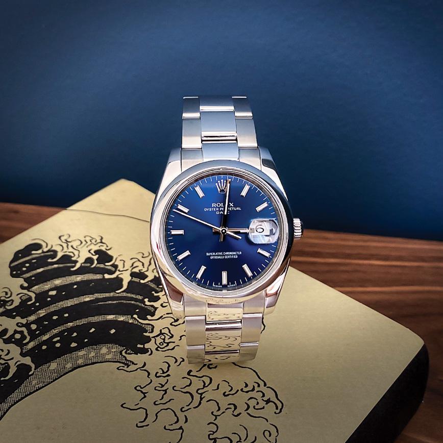 Montre homme de luxe Rolex Datejust 36 cadran bleu - Corse, Paris