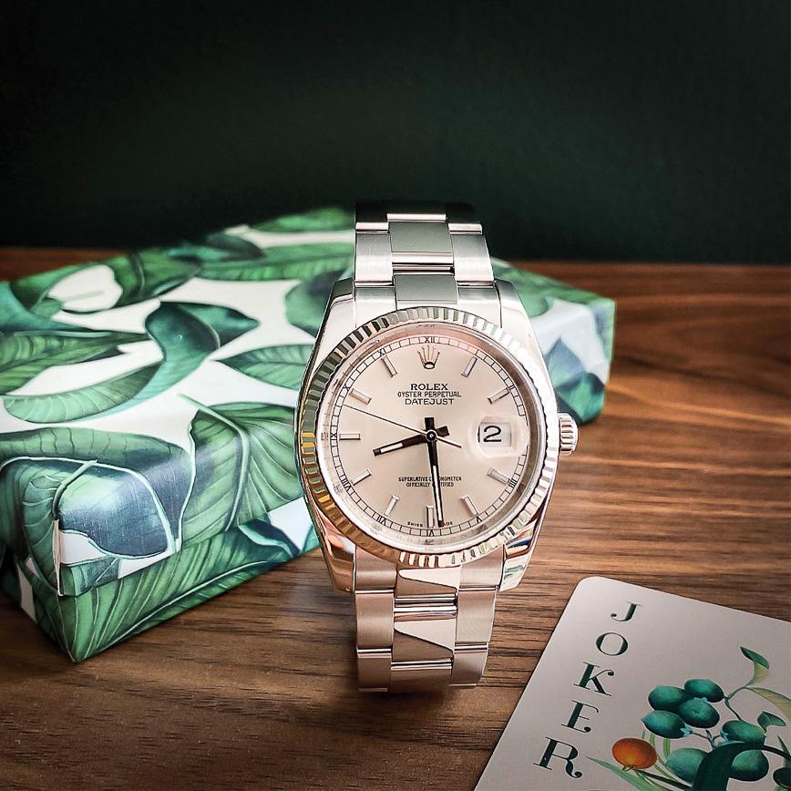 Montre homme de luxe Rolex Datejust 36mm cadran gris - Corse, Paris