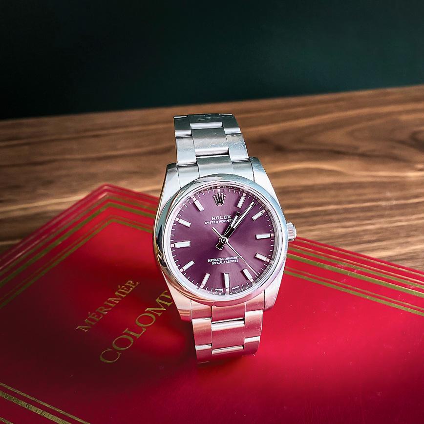 Montre homme de luxe Rolex Oyster Perpetual 36mm cadran violet - Corse, Paris