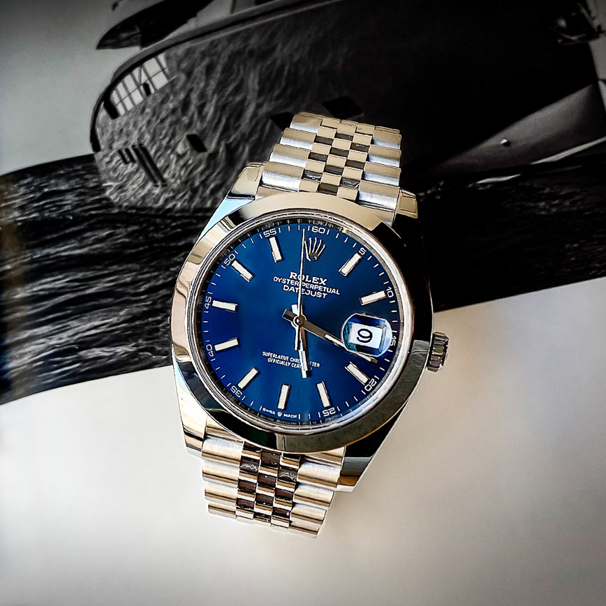 Montre homme de luxe Rolex Datejust 2 cadran bleu et bracelet jubilé ref.126300 - Corse, Paris