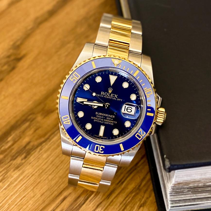 Montre homme Rolex Submariner Date or et acier ref.116613LB - Corse, Paris