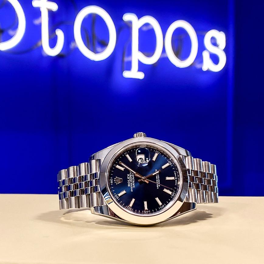 Rolex Datejust 2 cadran bleu et bracelet jubilé ref.126300 - Bastia, Paris