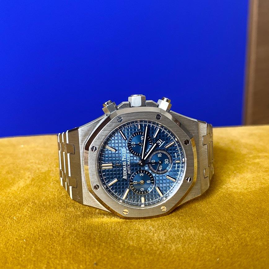Audemars Piguet Royal Oak Chronograph Kasparov cadran bleu ref.26300ST - Bastia, Paris
