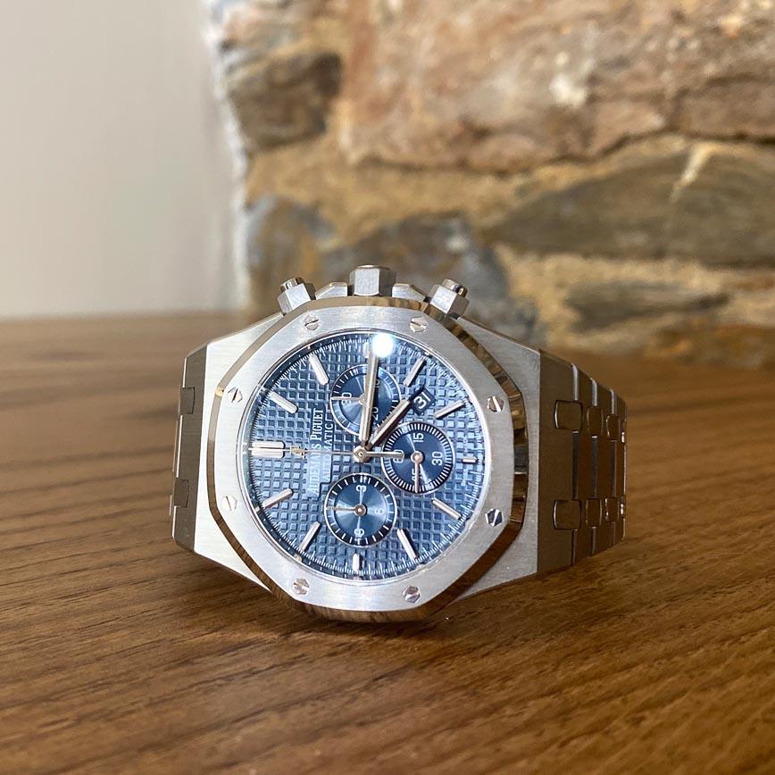 Montre homme Audemars Piguet Royal Oak Chronograph Kasparov cadran bleu ref.26300ST - Corse, Paris