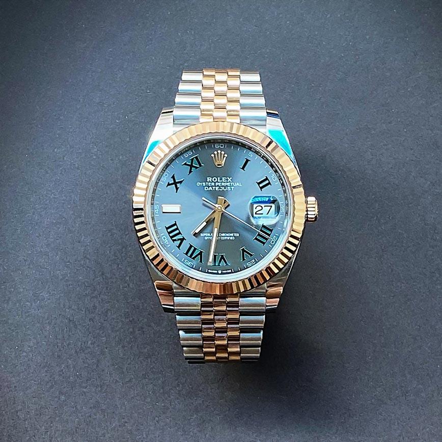 Montre homme Rolex Datejust 2 Wimbledon or rose et acier ref.126333 - Corse, Paris