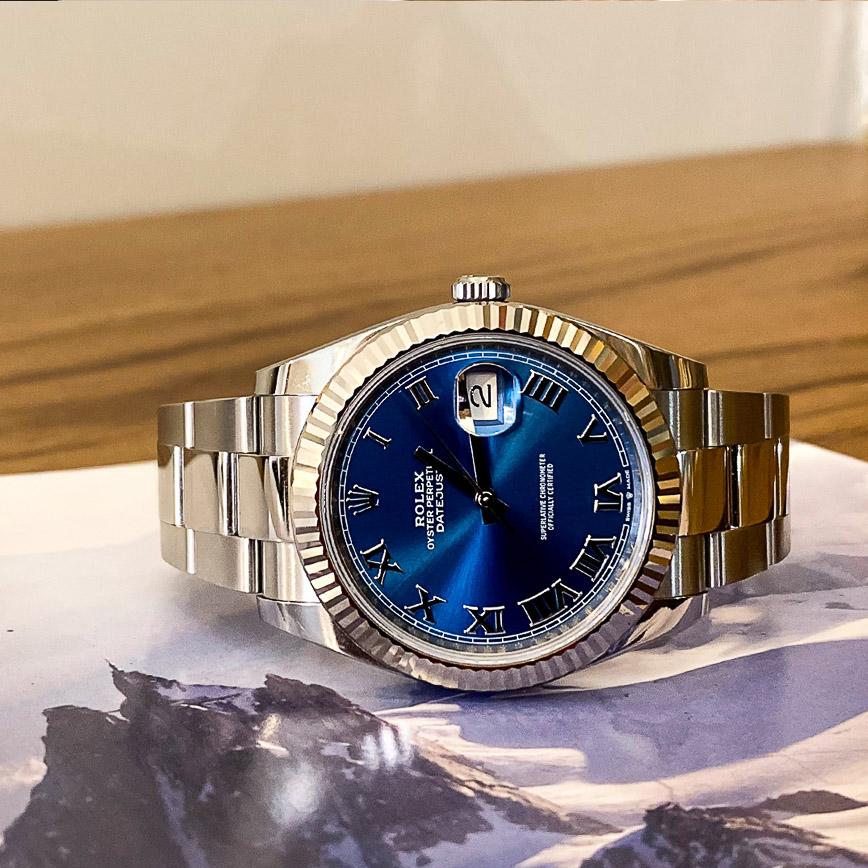 Montre homme Rolex Datejust II 41mm cadran bleu Azzuro avec chiffres romains ref.126334 - Corse, Paris