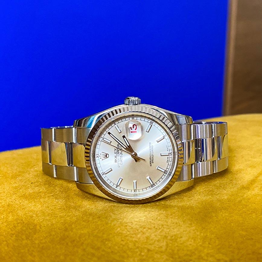 Montre homme Rolex Datejust 36mm cadran silver ref.116234 - Corse, Paris