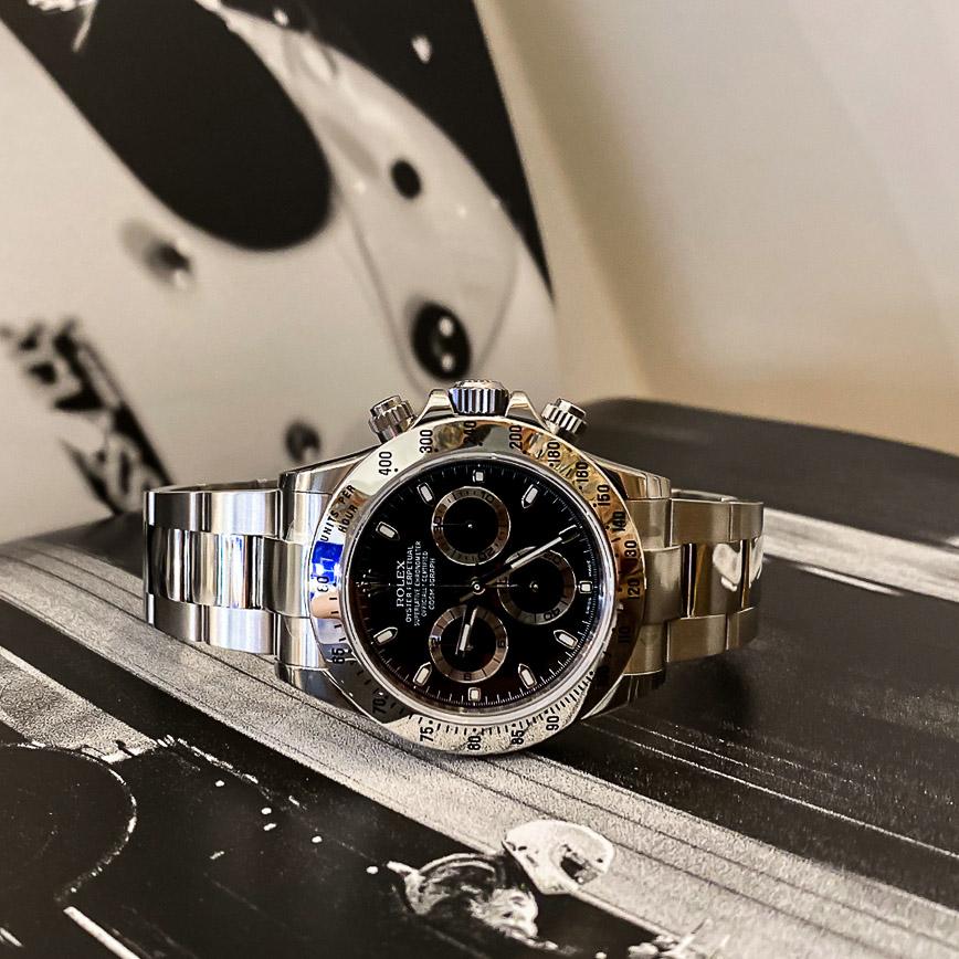 Montre homme Rolex Daytona ref.116520 cadran noir - Corse, Paris