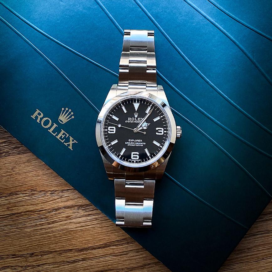 Montre homme Rolex Explorer 1 ref.214270 cadran noir - Corse, Paris