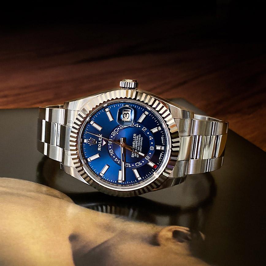 Montre homme Rolex Sky-Dweller ref.326934 cadran bleu - Corse, Paris