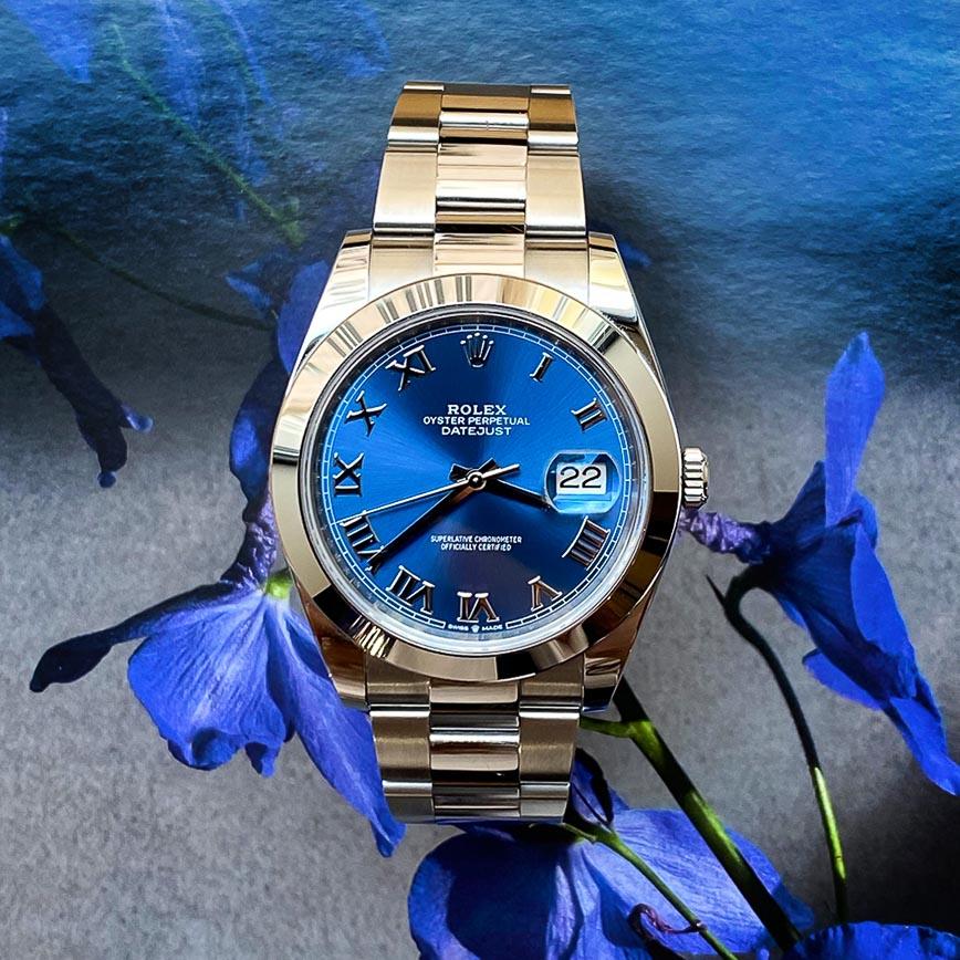 Montre homme de luxe Rolex Datejust 2 ref.126300 cadran bleu Azzuro bracelet oyster - Corse, Paris