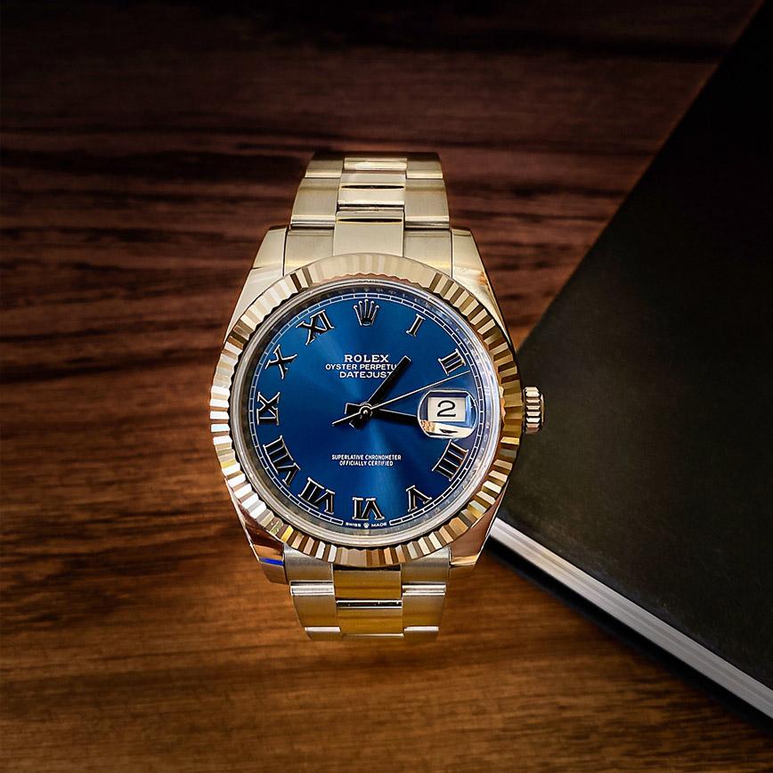 Rolex Datejust II 41mm cadran bleu Azzuro avec chiffres romains ref.126334 - Bastia, Paris