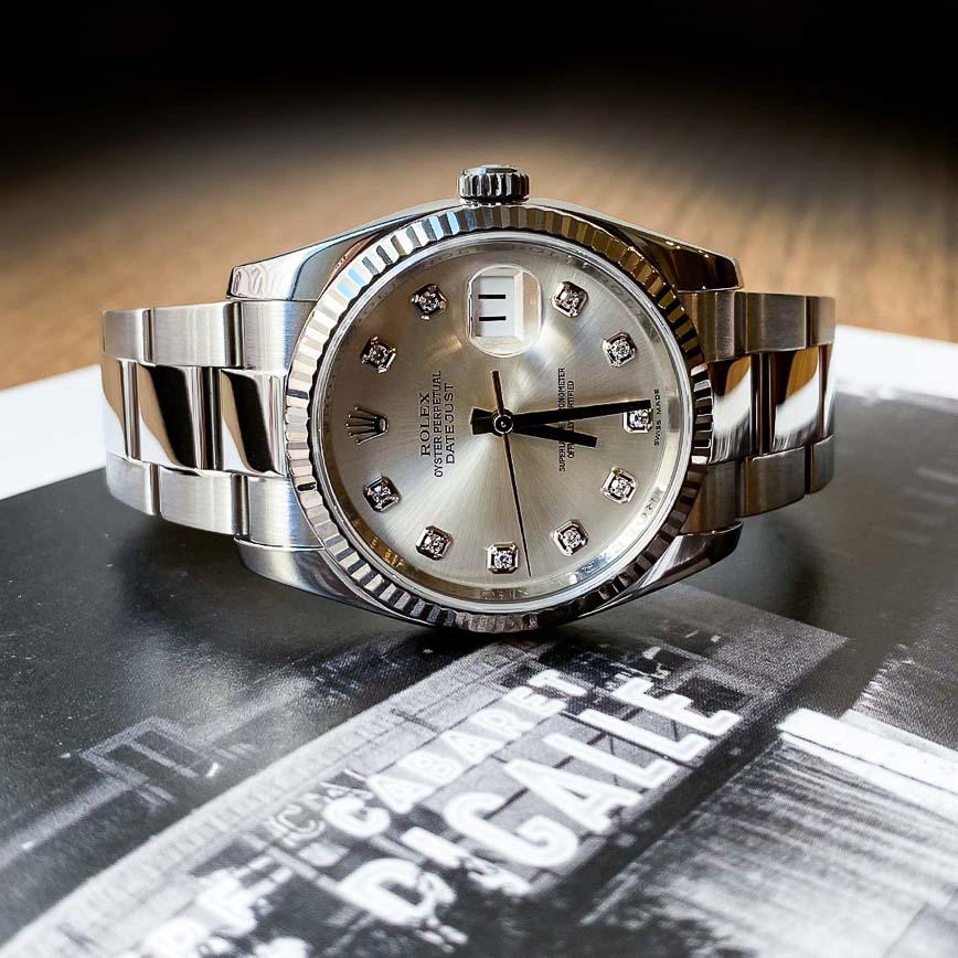 Montre femme Rolex Datejust 36mm cadran silver et diamants ref.116234 - Corse, Paris