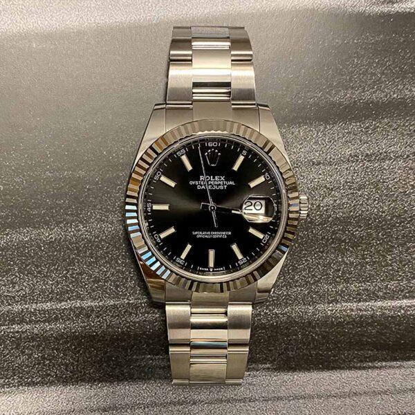 Montre homme Rolex Datejust 2 cadran anthracite lunette cannelée or blanc ref.126334 - Corse, Paris