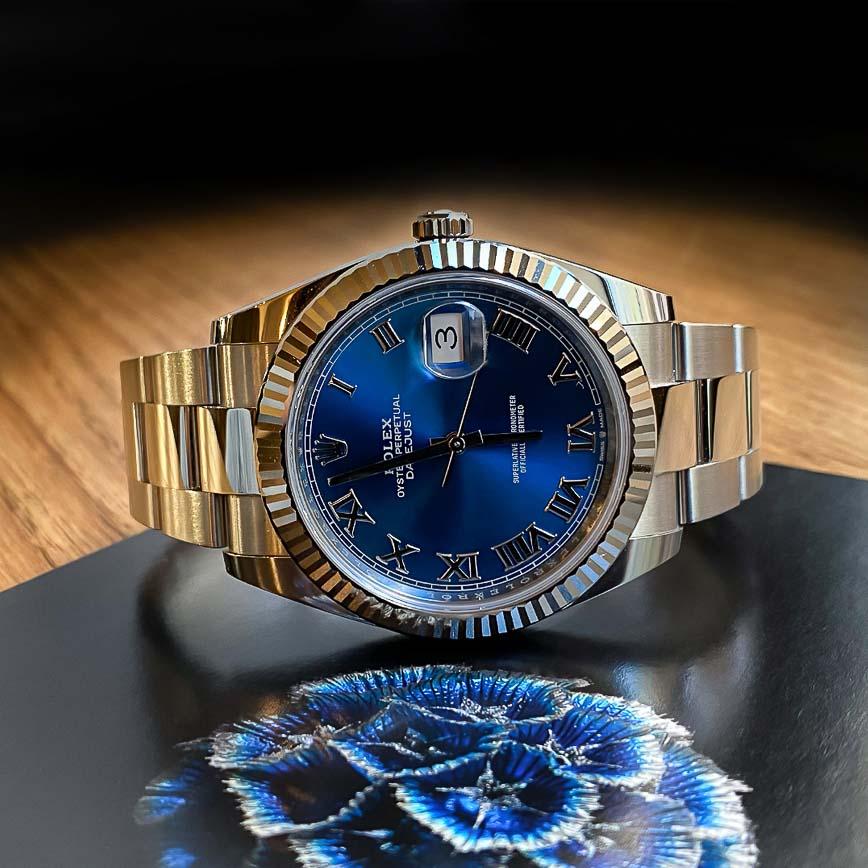 Montre homme Rolex Datejust 41mm cadran bleu Azzuro ref.126334 - Corse, Paris
