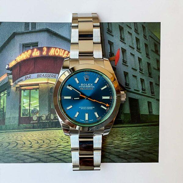 Montre homme Rolex Milgauss ref.116400GV cadran bleu - Corse, Paris