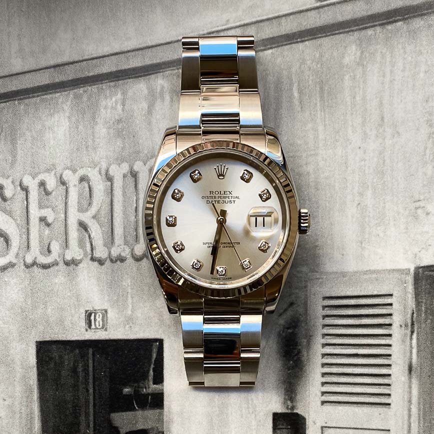 Rolex Datejust 36mm cadran silver et diamants ref.116234 - Bastia, Paris