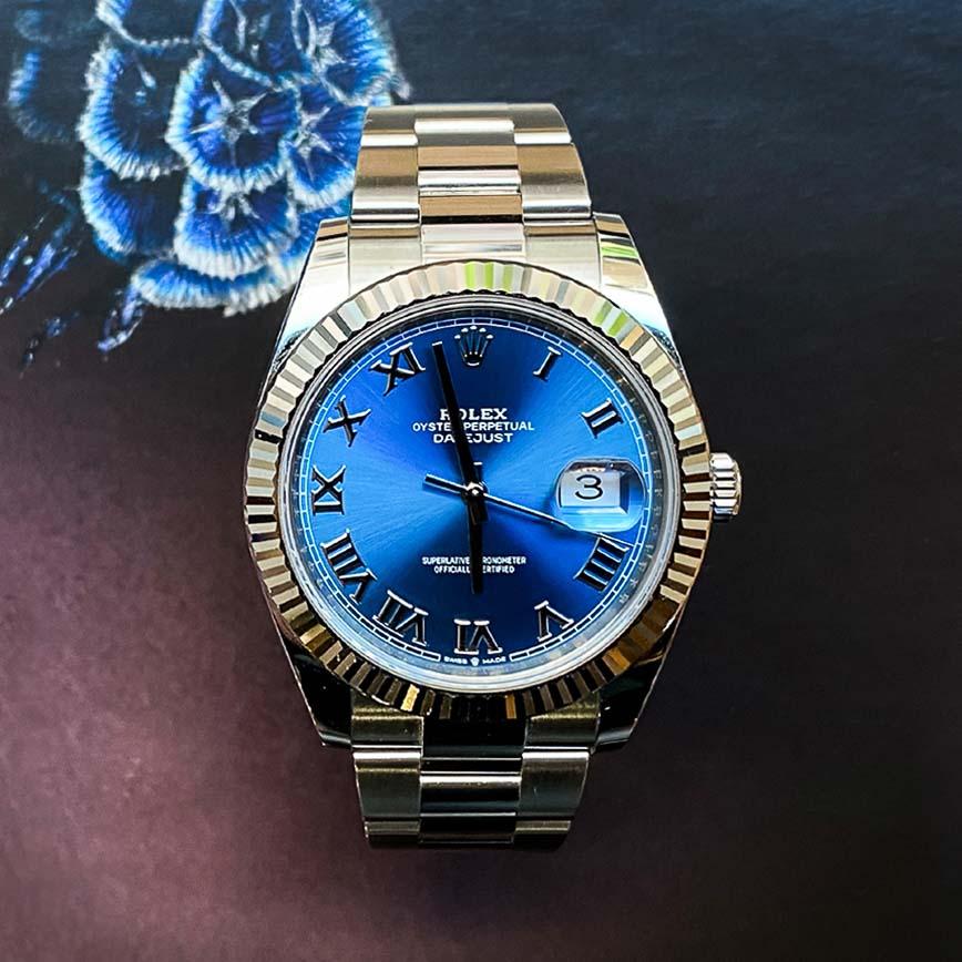 Rolex Datejust 41mm cadran bleu Azzuro ref.126334 - Bastia, Paris
